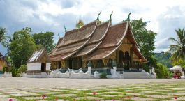 Traditionelles Gebäude in Laos