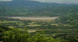 Landschaft in Chiang Khong, Thailand