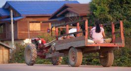 Alltagsleben in Thakek, laos