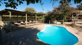 Pool at Kalahari Plains Camp in Central Kalahari, Botswana
