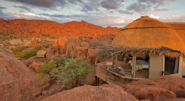 Suite view at Mowani Mountain Camp in Damaraland, South Africa
