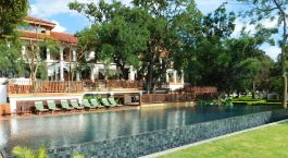 Pool at Sanctum Inle Resort in Inle Lake, Myanmar