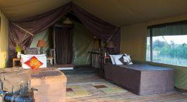 Schlafzimmer - Zelt im Kilima Camp in Masai Mara, Kenia