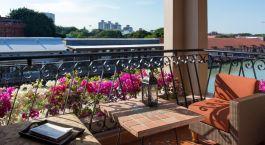 Balcony view at hotel Casa del Rio Melaka, Malacca, Malaysia