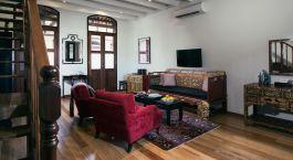 Lounge at hotel Seven Terraces, Penang, Malaysia