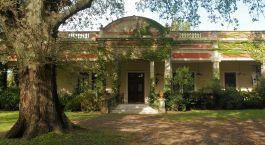 Exterior view of Estancia El Ombu de Areco in Buenos Aires Province, Argentina