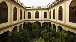 Inner courtyard at Palais Amani in Fes, Morocco
