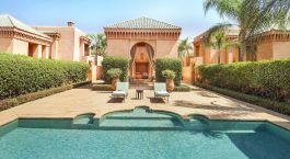 Pavilion Pool at Amanjena Hotel in Marrakech, Morocco