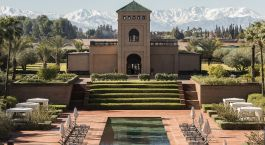 Exterior view of Selman Marrakech Hotel in Marrakech, Morocco
