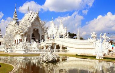 Wunderschöner Tempel in Chiang Rai, Thailand