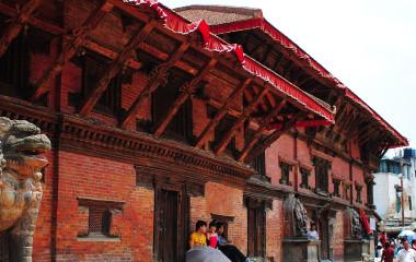 Pagoden und Tempel am Durbar-Platz in Kathmandu, Nepal