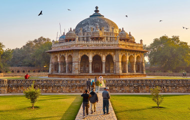 Humayun's Tomb in the garden of the Char Bagh