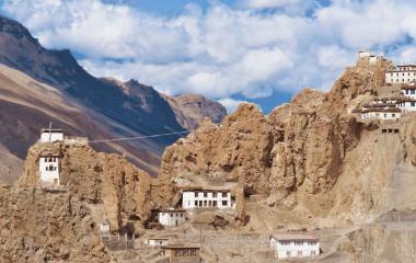 Typische Häuser in Leh, Indien