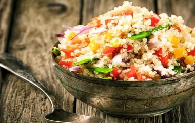 Healthy vegetarian quinoa