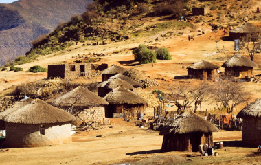 Lesotho Travel - A typical village - things to do in Lesotho