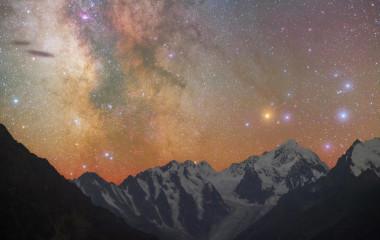 Funkelnder Nachthimmer auf Chile Reisen