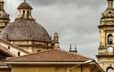 Cartagena buildings, Colombia, South America