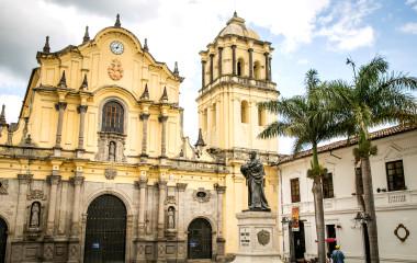 catholic church white city popayan colombia south america