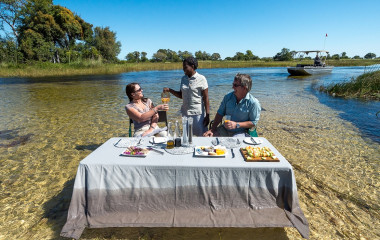 Breakfast at Okavango Delta