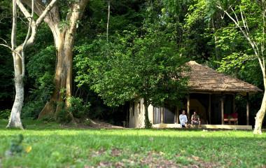 Gästechalet im Rubondo Island Camp Hotel, Viktoriasee in Tansania
