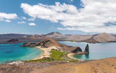 Erstaunliche Aussicht auf der Insel Bartolome, Galapagos-Inseln, Ecuador, Südamerika