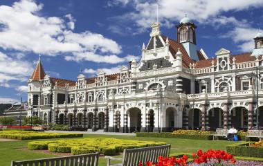 Historischer Bahnhof, Dunedin, Südinsel, Neuseeland