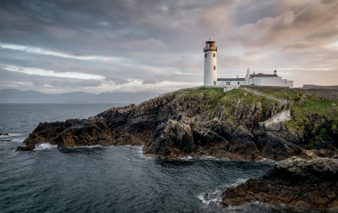 Fanad light house on the north coast of Donegal Ireland. This was taken just before sunset