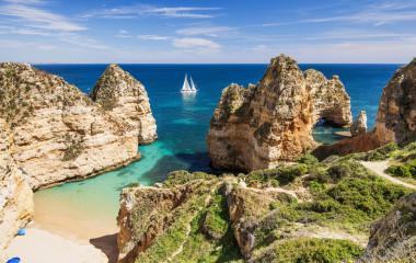 Bay near Lagos town, Algarve region, Portugal