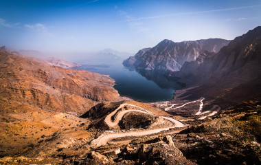 Landscape in the region of Khasab, Oman
