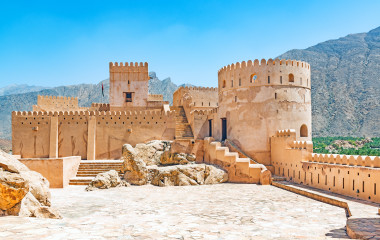 Nakhal Fort in Al Batinah, Oman.
