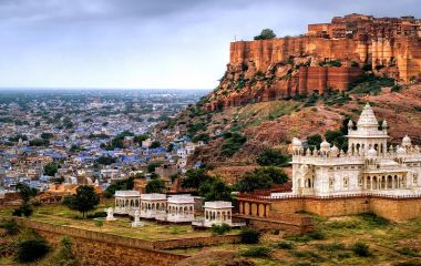 Blue city Jodhpur, Rajasthan trip, India, with Mehrangharh Fort and Jaswant Thada