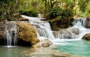 Waterfalls near Luang Prabang, Laos, Asia