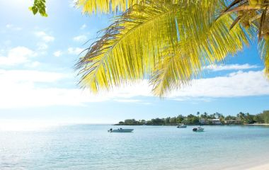 Strand im Merville Beach Hotel, Mauritius