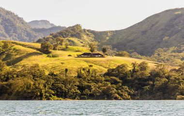 Enchanting Travels Costa Rica ToursLa Fortuna Costa Rica. March 2018. A view of Lake Arenal in La Fortuna in Costa Rica