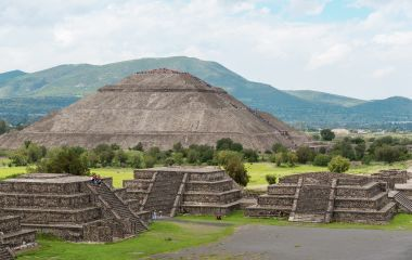 The Pyramid of the Sun, on the east side of the Avenue of the Dead, Mexico City, Central America