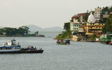 Enchanting Travels India Tours East India Guwahati city along the River Brahmaputra