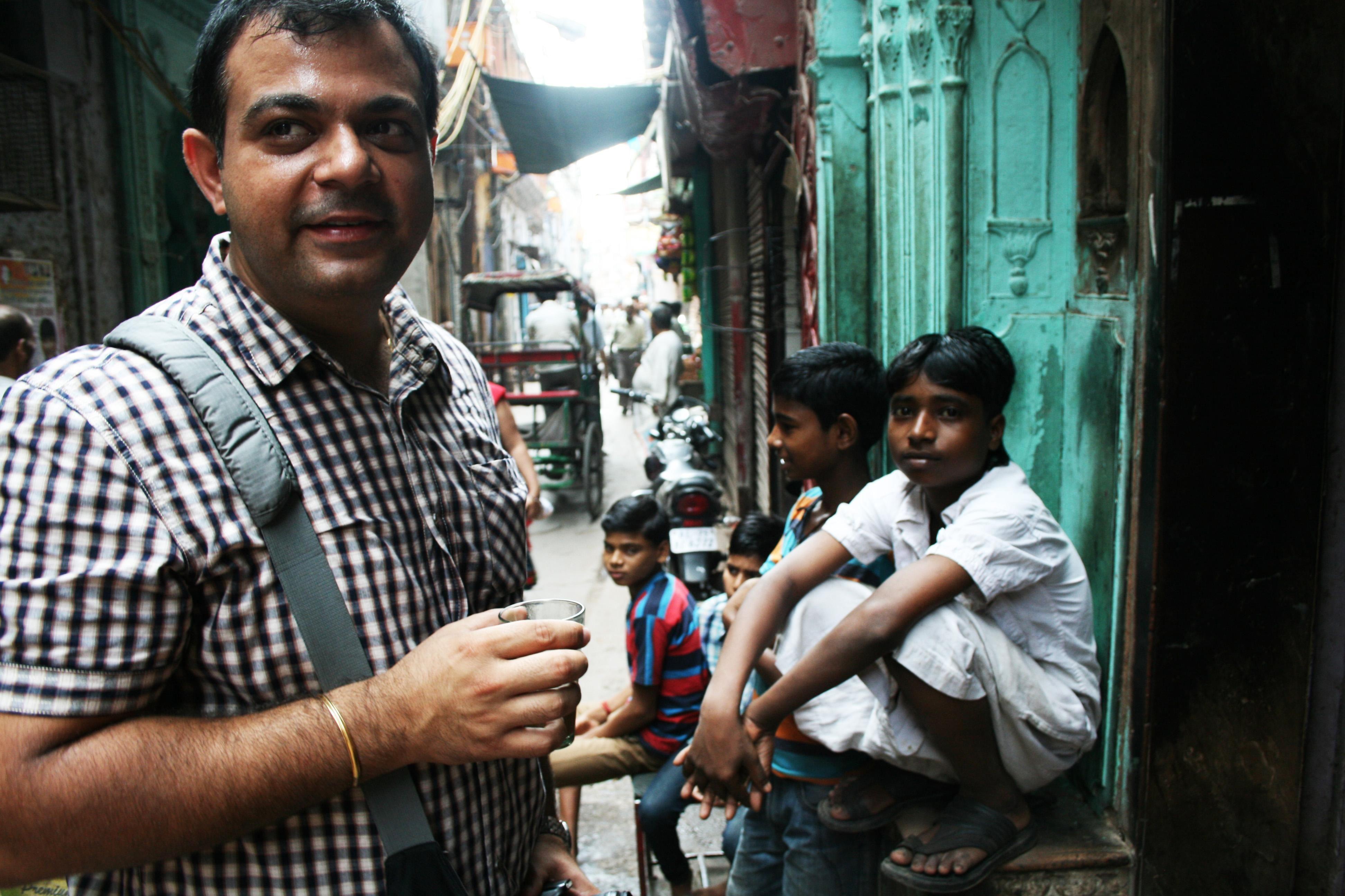 Straßen von Delhi Nordindien