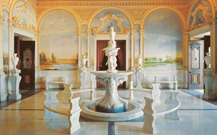Lobby des Hotels Taj Falaknuma Palace