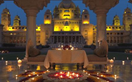 Essbereich im Hotel Taj-Umaid-Bhavan-Palace