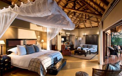 Doppelzimmer im Lion Sands Tinga Lodge Hotel im südlichen Krüger, Südafrika