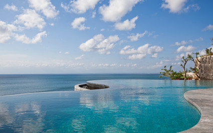 Infinity pool at Anantara Uluwatu Bali Resort Hotel in Uluwatu, Indonesia