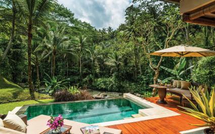 Privater Pool im Four Seasons Resort Bali at Sayan Hotel in Ubud, Indonesien