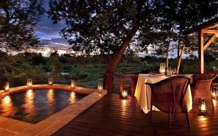 Privater Pool im Lion Sands Tinga Lodge Hotel im südlichen Krüger, Südafrika