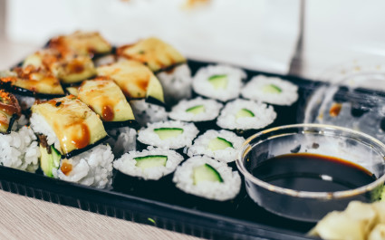 Plateful of Sushi, Japanese dish