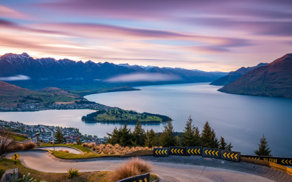 Skyline Luge at sunrise Queenstown, New Zealand, best road trips