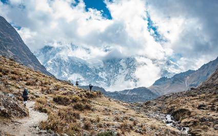 View of Salkantay Mountain