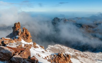 Landscape at the top of Mount Kenya
