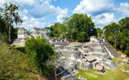 The North Acropolis complex at Tikal