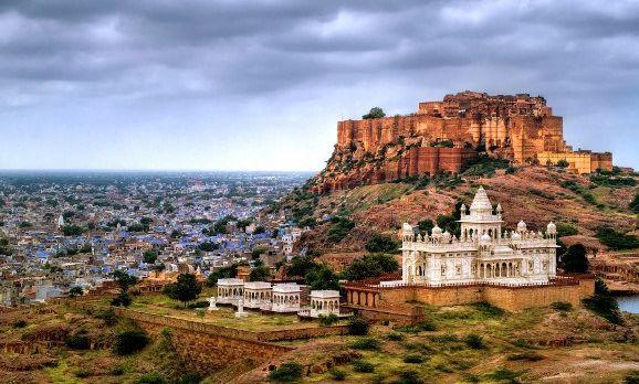Panorama-Ansicht der Stadt Jodphpur in Rajasthan