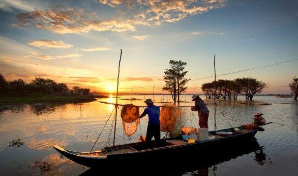 Vietnam Reisebericht - Fischer im Mekong Delta